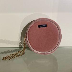 Miu Miu Pink Velvet Pouch